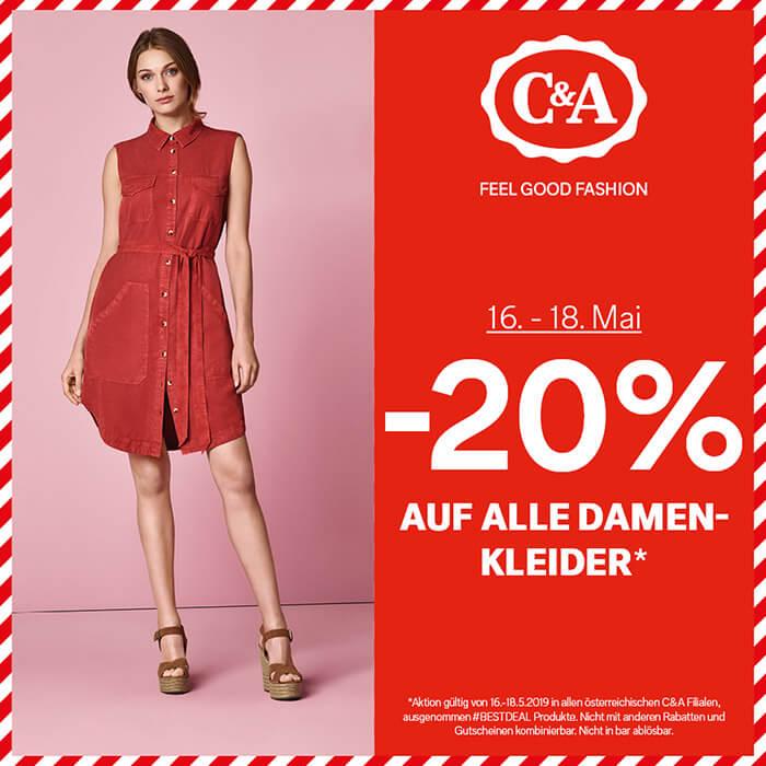 C&A: -20% auf alle Damenkleider*