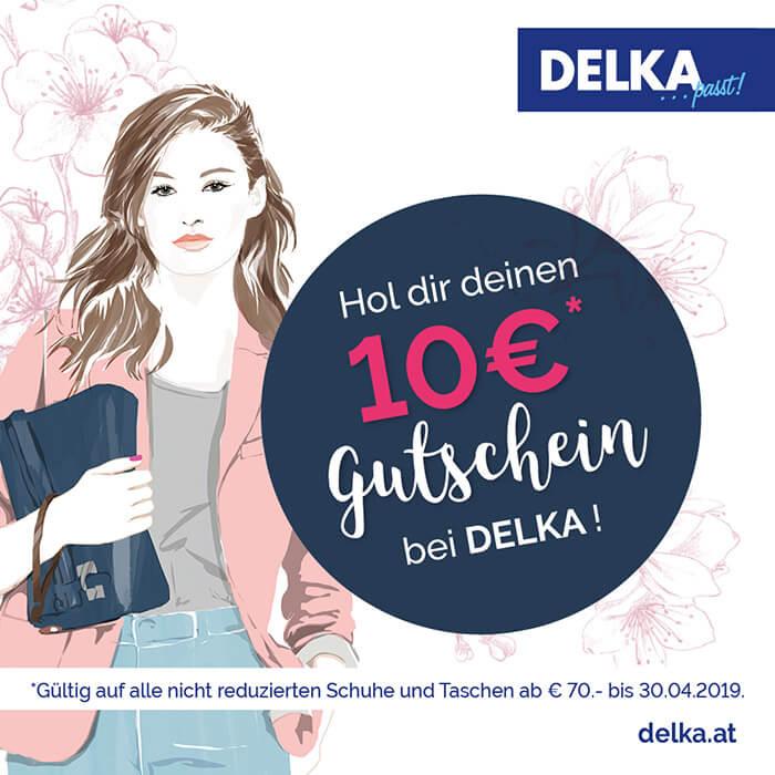 Hol dir deinen € 10,- Gutschein bei DELKA!