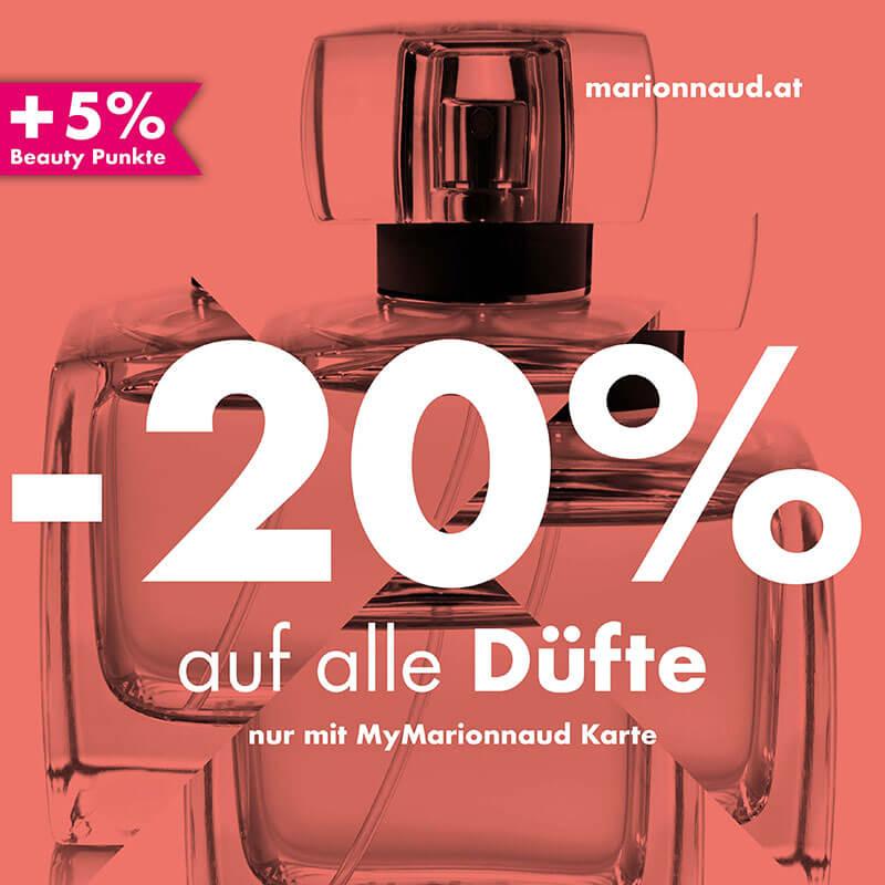 Marionnaud: -20% auf alle DÜFTE