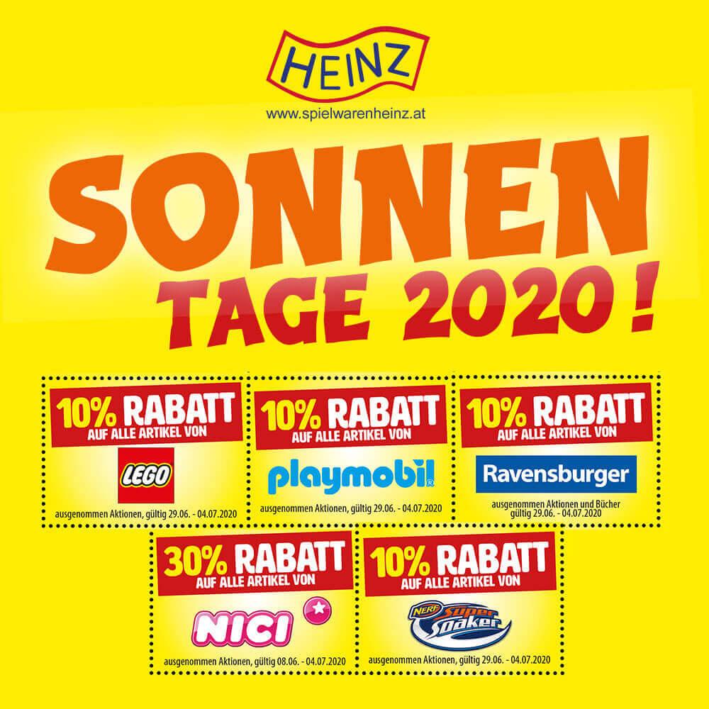 Spielwaren Heinz: Sonnentage 2020!